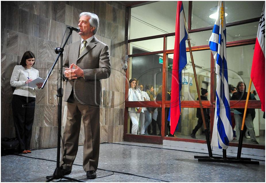 Acto de toma de posesión de cargo de las nuevas autoridades del Centro Hospitalario Pereira Rossell con presencia del Excmo. Sr Presidente. Prof. Dr Tabaré Vázquez. Sept 2018