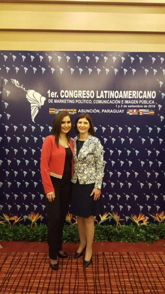 Con Coca Sevilla Pta de AICI Mexico y Alter Ego en 1er Congreso Latinoamericano de Marketing Politico Comunicacion e Imagen Publica Asuncion Paraguay 2016