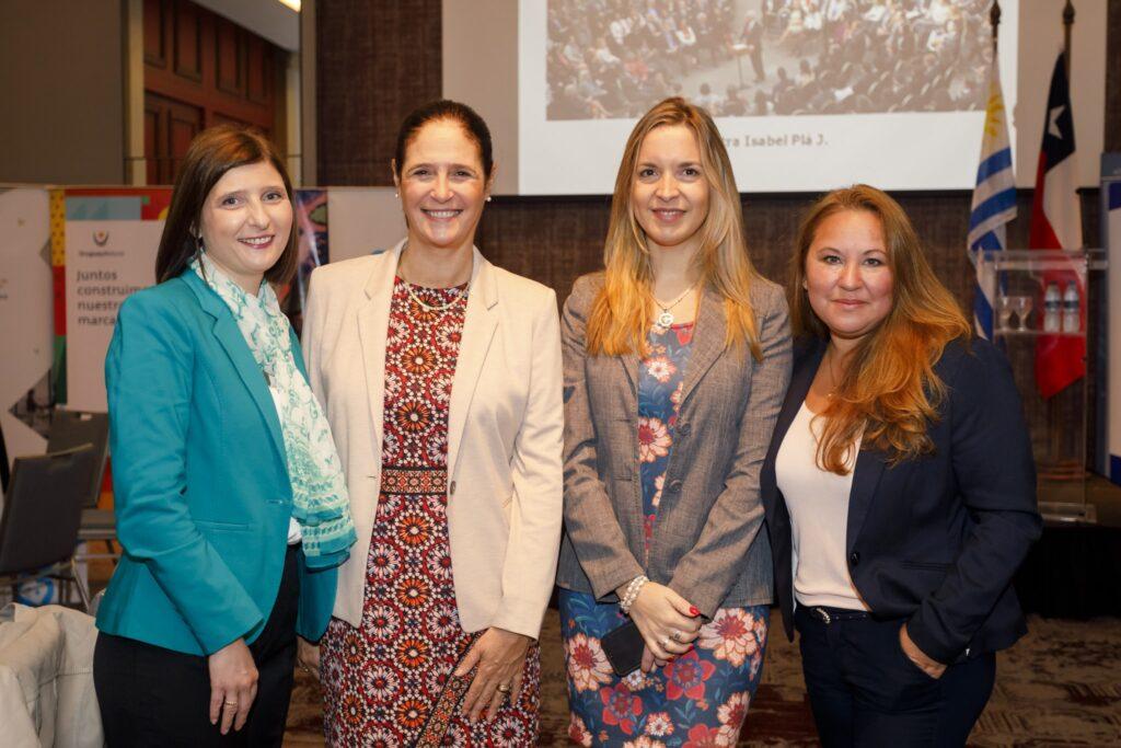 Con Elisa Facio Valeria Cal y Laura Morin Conferencia que brindo la Ministra de la Mujer Equidad y Genero de Chile Sra Isabel Pla. Marzo 2019