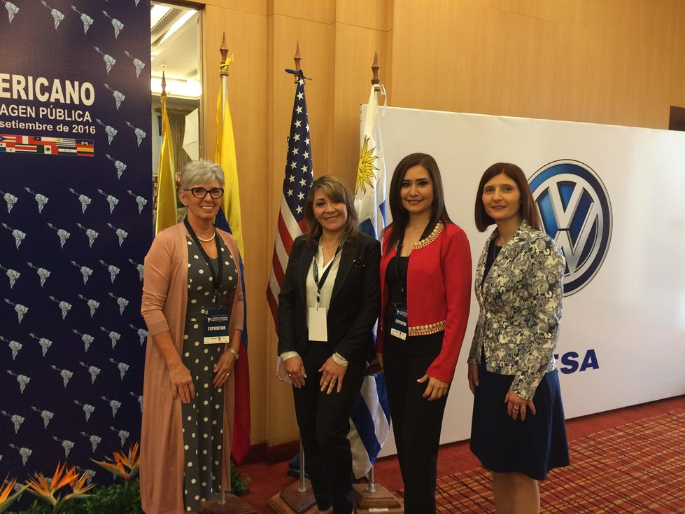 Con Jane Seaman Ana Torres y Coca Sevilla en 1er Congreso Latinoamericano de Marketing Politico Comunicacion e Imagen Publica Asuncion Paraguay 2016