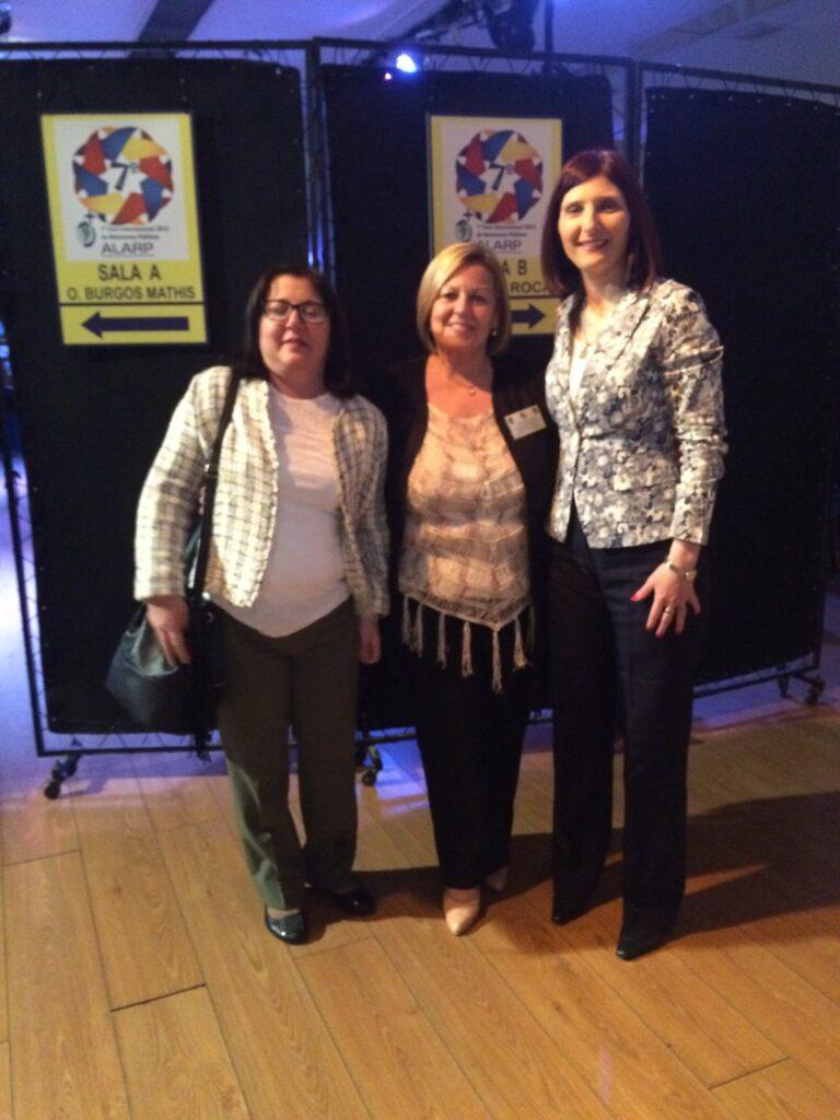 Con Perla Diaz de Argentina y Lourdes Madera de Uruguay en Buenos Aires 7a Congreso CIDEC 2016
