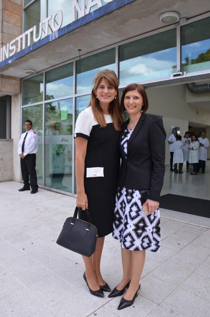 Con su Alteza Real Dina Mired Princesa de Jordania y Presidenta de la Unión Internacional contra el Cancer en su visita al Instituto Nacional del Cancer