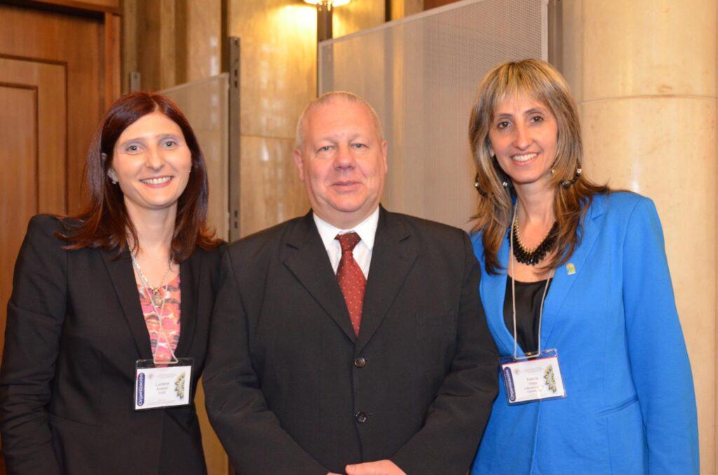 Decima Jornada de Protocolo de Estado Con Anibal Gotelli Presidente de CIDEC y y la Responsable de Protocolo de la Intendencia de Canelones Karina Hitta 2015