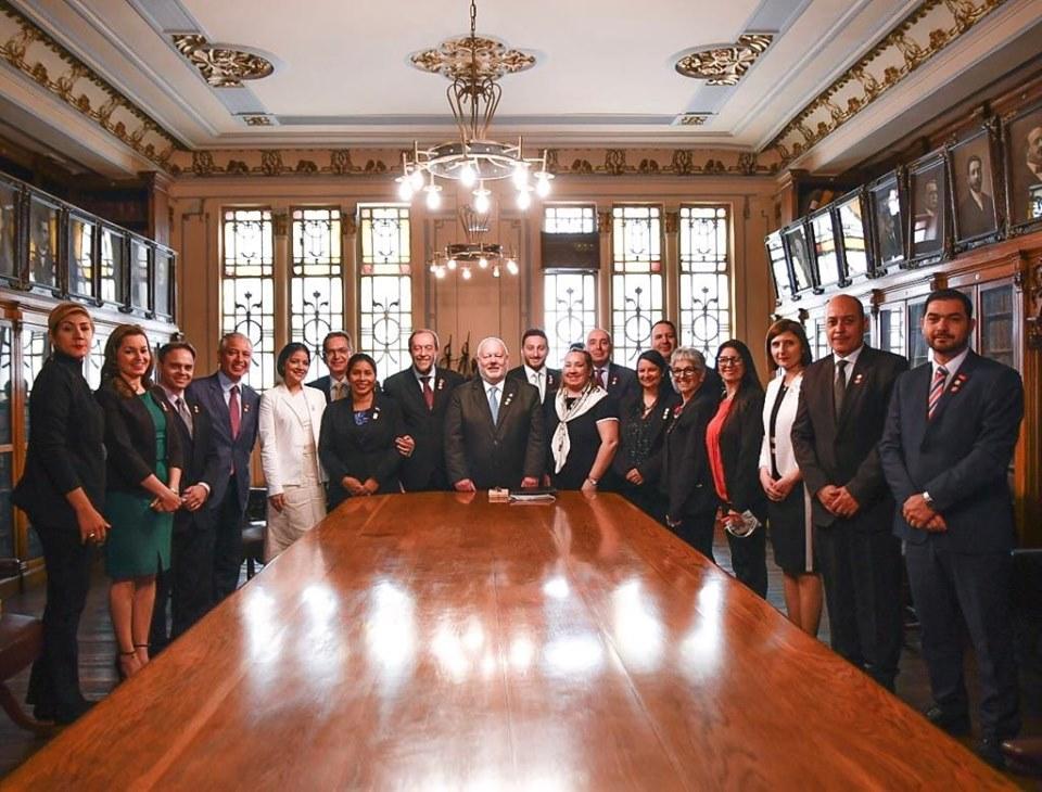 Designación como miembro fundador por Uruguay de la Academia Latinoamericana de Ceremonial y Ciencias Culturales Septiembre 2019
