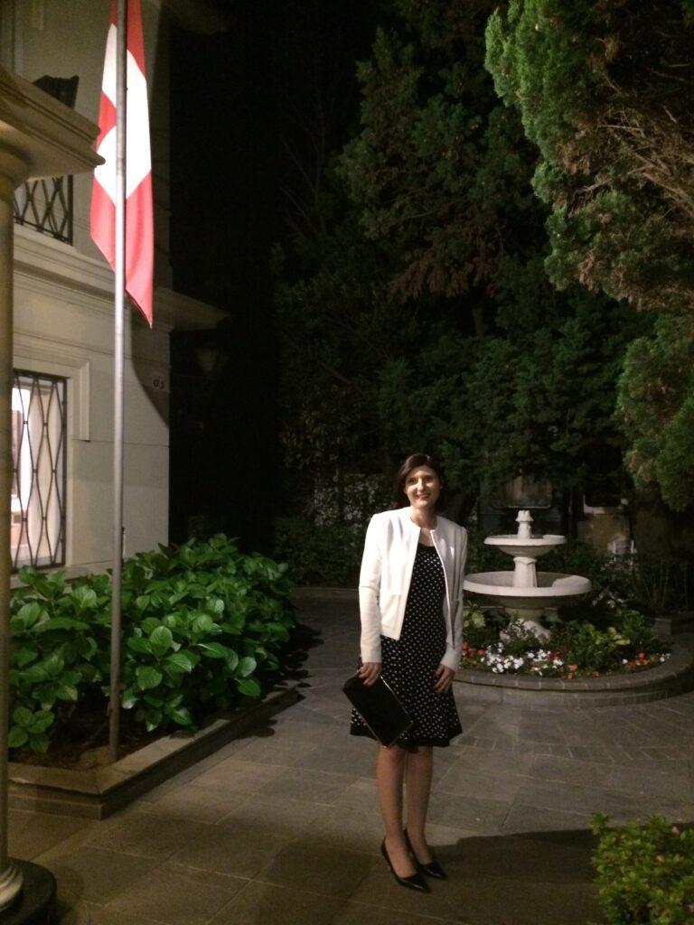 En residencia del Excmo-Sr Embajador de Suiza Martin Strub. Coctel OMEU Mas Emprendedoras. Noviembre 2017