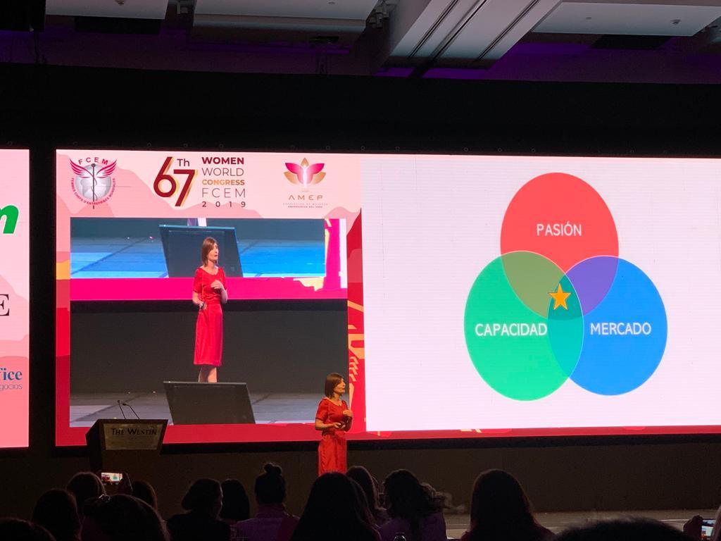 Presentando el Método D.A.N.C.E.R en el 67 Congreso Mundial de Mujeres Empresarias FCEM Perú Noviembre 2019