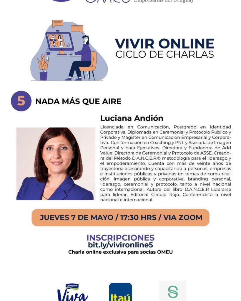 Vivir Online, Ciclo de Charlas, Nada más que A.I.R.E, OMEU, 7 de Mayo de 2020