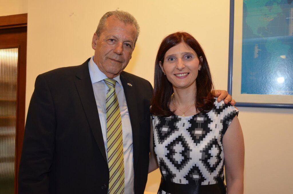 Con el Cap. Dimitris Linas Pte de la Colectividad Helénica 2016